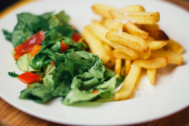 Salad and Chips