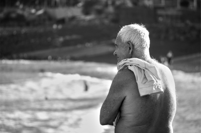 Older Man At The Beach