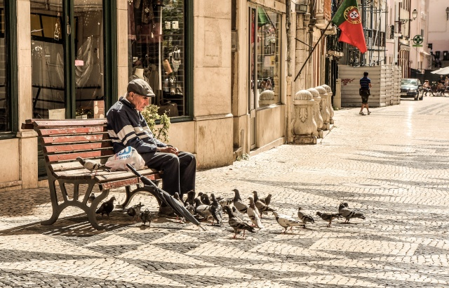 Older Man On A Bench - Copy