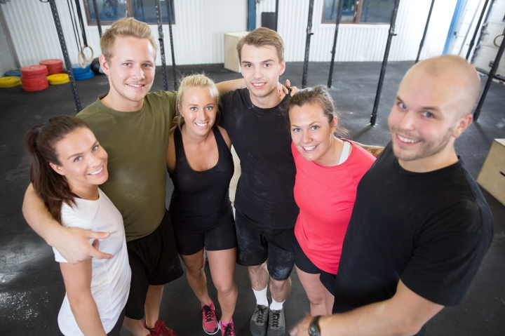 Group Happy At The Gym